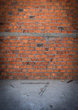 Brick wall in residential building construction Royalty Free Stock Photo