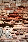 Brick wall before restructuring Royalty Free Stock Photo