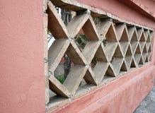 Brick wall in rhombus. At spanish house facade Royalty Free Stock Image