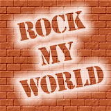 Brick wall rock my world Royalty Free Stock Photography
