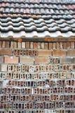 Brick wall & roof Royalty Free Stock Photo