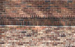 Brick Wall with Running & Soldier Brick Royalty Free Stock Images