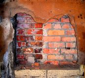 Brick Wall and Rust stock image