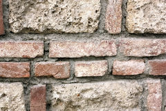 Brick Wall and Sandstone Wall Structure Stock Photos