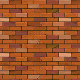 Brick wall seamless background Stock Images