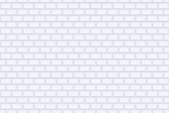 Brick wall seamless geometric texture. White design - vector background.  Royalty Free Stock Photo