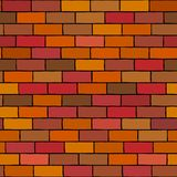 Brick Wall Seamless Illustration Vector Background. Vector image of brick wall pattern background. Image is seamless design for wallpaper stock illustration