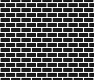 Brick wall seamless pattern, black isolated on white background, vector illustration. Brick wall seamless pattern, brick wallpaper, black isolated on white stock illustration