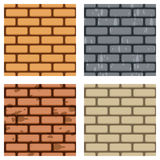Brick Wall Seamless Pattern Set Royalty Free Stock Photography