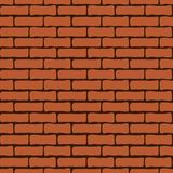Brick wall seamless pattern, vector background. Brickwork infinite repeatable element. For wallpaper design, fabric, wrappers, dec Royalty Free Stock Image