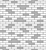 Brick wall seamless pattern White and gray surface Royalty Free Stock Photography