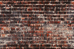 Brick wall seamless photo, weathered stained old texture background Royalty Free Stock Images