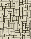 Brick wall seamless. Vector illustration background. Organic Rounded Jumble Shapes. Abstract Geometric beige Pattern royalty free illustration