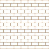 Brick wall seamless Vector illustration background - texture pattern for continuous replicate Stock Photos