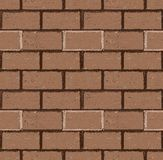 Brick wall seamless Vector. Illustration in grunge style Royalty Free Stock Photos