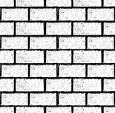 Brick wall seamless Vector. Illustration in grunge style. Stock Image