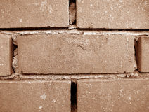 Brick Wall. Sepia brick wall texture and background for print or web usage Stock Image