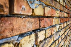 Brick wall from Serbia. Brick wall in Sombor from Serbia royalty free stock images