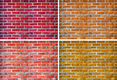 Brick wall set Royalty Free Stock Photos