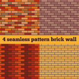 Brick wall set of seamless textures. Set of four samples of a brick wall. Seamless texture Stock Images