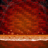 Brick wall in the sewers Royalty Free Stock Photo