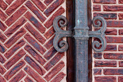Brick wall with shod decor Stock Photo