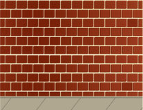 Brick wall and sidewalk background Royalty Free Stock Photos