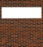 Brick wall sign Royalty Free Stock Photos