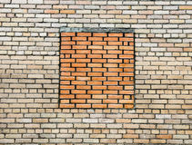 Brick wall from silicate brick Royalty Free Stock Photography