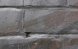 Brick wall in silver paint Stock Image