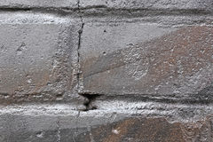 Brick wall in silver paint Stock Images
