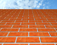Brick wall and the sky. Stock Images