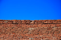 Brick wall and sky Stock Photos