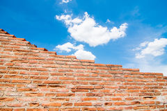 Brick wall with sky. Background from a brick wall Stock Photography