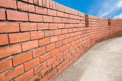 Brick wall with sky Stock Photography