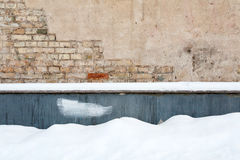 Brick wall and snow Stock Images