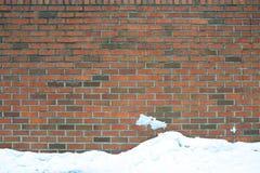Brick wall with snow Royalty Free Stock Photo