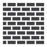 Brick wall solid icon, security and build. Vector graphics, a glyph pattern on a white background, eps 10 royalty free illustration