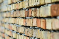 Brick wall from Serbia. Brick wall in Sombor from Serbia royalty free stock image