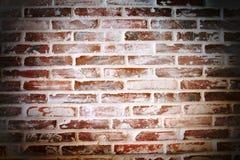 Brick Wall. Spot on the center. Royalty Free Stock Photo