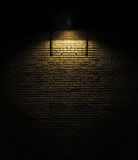 Brick wall with spotlight Stock Image