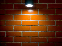 Brick wall and spotlight background Royalty Free Stock Image