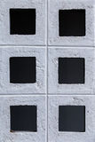 Brick wall with square pattern Stock Photo