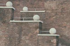 Brick wall and stairs Royalty Free Stock Photos