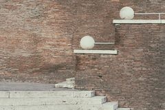 Brick wall and stairs Stock Photos