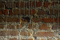 Brick wall stone background - texture for continuous rocks.  royalty free stock photography