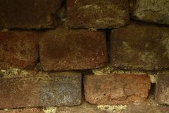 Brick wall stone background - texture for continuous rocks. Surface for web site or mobile devices stock images