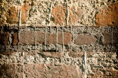Brick wall stone background - texture for continuous rocks. For web site or mobile devices royalty free stock photography