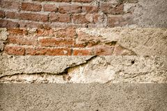 Brick wall stone background - texture for continuous rocks. For web site or mobile devices royalty free stock photo