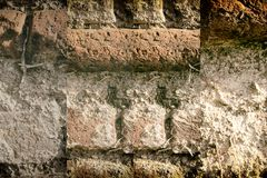 Brick wall stone background - texture for continuous rocks. For web site or mobile devices royalty free stock image
